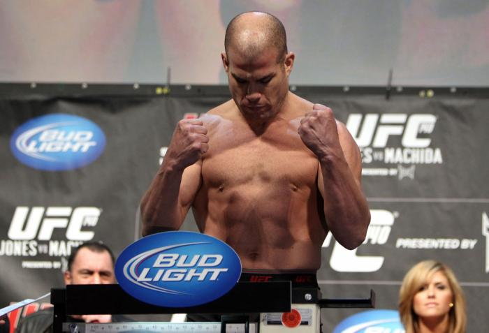 TORONTO, ON - DECEMBER 09:  Tito Ortiz weighs in during the UFC 140 Official Weigh-in at the Air Canada Centre on December 9, 2011 in Toronto, Canada.  (Photo by Josh Hedges/Zuffa LLC/Zuffa LLC via Getty Images)