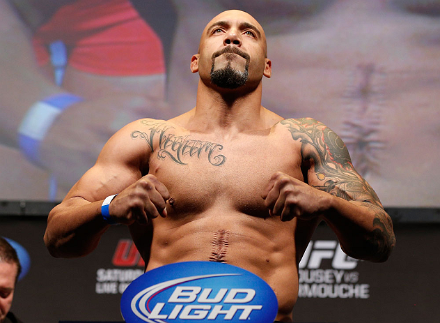 ANAHEIM, CA - FEBRUARY 22:  Lavar Johnson weighs in during the UFC 157 weigh-in at Honda Center on February 22, 2013 in Anaheim, California.  (Photo by Josh Hedges/Zuffa LLC/Zuffa LLC via Getty Images)