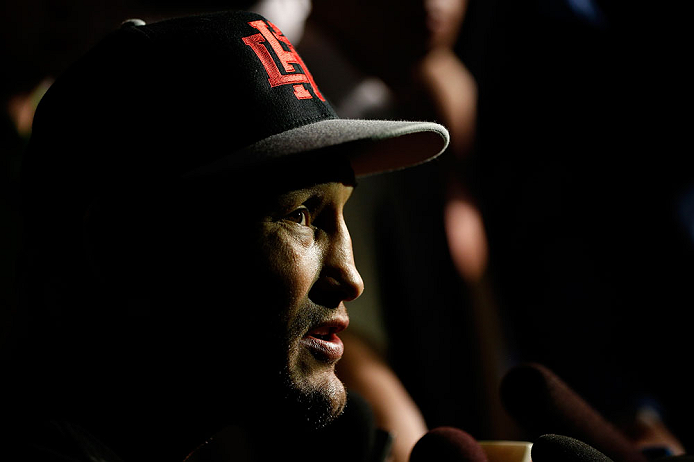 WINNIPEG, CANADA - JUNE 13:  Dan Henderson interacts with media during the UFC 161 media day at The Met on June 13, 2013 in Winnipeg, Manitoba, Canada.  (Photo by Josh Hedges/Zuffa LLC/Zuffa LLC via Getty Images)