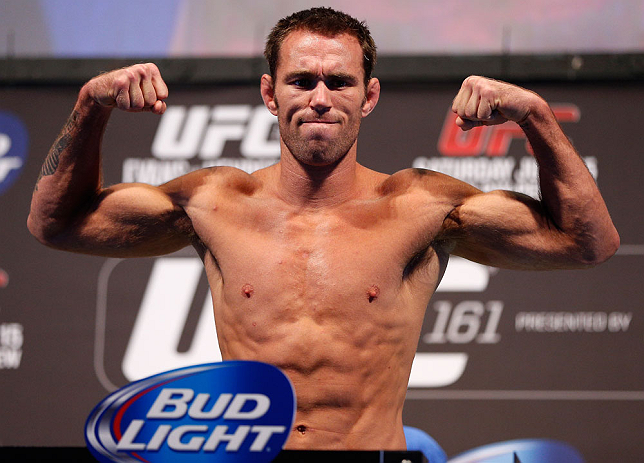 WINNIPEG, CANADA - JUNE 14:  Jake Shields weighs in during the UFC 161 weigh-in at the MTS Centre on June 14, 2013 in Winnipeg, Manitoba, Canada.  (Photo by Josh Hedges/Zuffa LLC/Zuffa LLC via Getty Images)