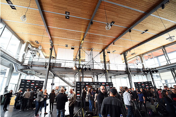 MONTREAL, QC - APRIL 23:  A general view during the UFC 186 Ultimate Media Day at Scena on April 23, 2015 in Montreal, Quebec, Canada. (Photo by Jeff Bottari/Zuffa LLC/Zuffa LLC via Getty Images)