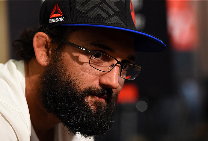 HOUSTON, TX - OCTOBER 01:  Johny Hendricks interacts with media during the UFC 192 Ultimate Media Day at the Toyota Center on October 1, 2015 in Houston, Texas. (Photo by Josh Hedges/Zuffa LLC/Zuffa LLC via Getty Images)