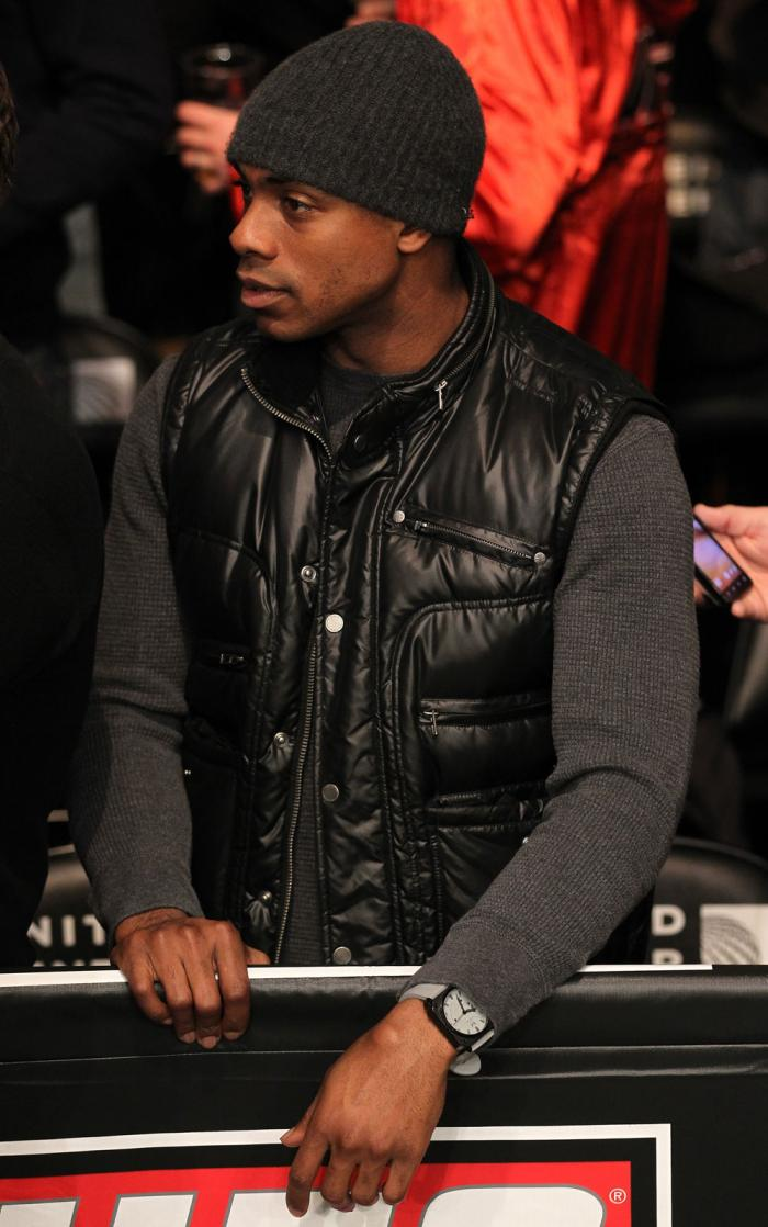 CHICAGO, IL - JANUARY 28:  New York Yankees outfielder Curtis Granderson attends the UFC on FOX event at United Center on January 28, 2012 in Chicago, Illinois.  (Photo by Nick Laham/Zuffa LLC/Zuffa LLC via Getty Images) *** Local Caption *** Curtis Grand