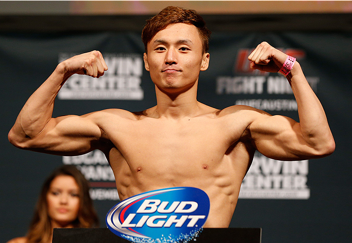 AUSTIN, TX - NOVEMBER 21:  Doo Ho Choi of South Korea weighs in during the UFC weigh-in at The Frank Erwin Center on November 21, 2014 in Austin, Texas.  (Photo by Josh Hedges/Zuffa LLC/Zuffa LLC via Getty Images)