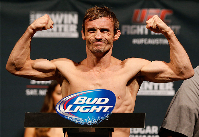 AUSTIN, TX - NOVEMBER 21:  Brad Pickett of England weighs in during the UFC weigh-in at The Frank Erwin Center on November 21, 2014 in Austin, Texas.  (Photo by Josh Hedges/Zuffa LLC/Zuffa LLC via Getty Images)