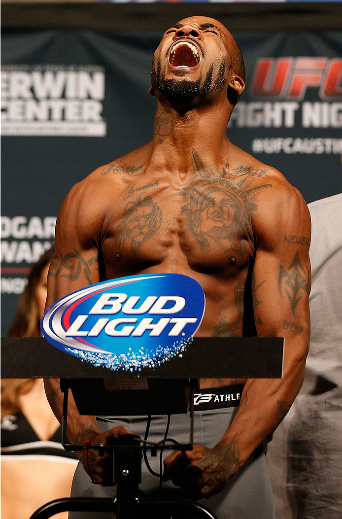 AUSTIN, TX - NOVEMBER 21:  Bobby Green weighs in during the UFC weigh-in at The Frank Erwin Center on November 21, 2014 in Austin, Texas.  (Photo by Josh Hedges/Zuffa LLC/Zuffa LLC via Getty Images)