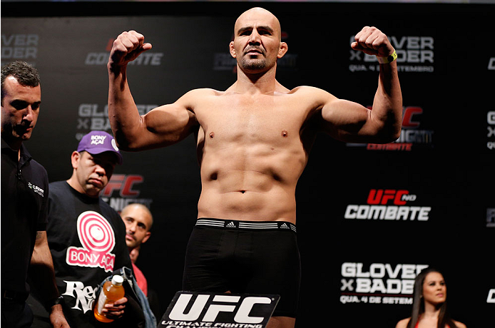 BELO HORIZONTE, BRAZIL - SEPTEMBER 03:  Glover Teixeira weighs in during the UFC weigh-in event at Mineirinho Arena on September 3, 2013 in Belo Horizonte, Brazil. (Photo by Josh Hedges/Zuffa LLC/Zuffa LLC via Getty Images)