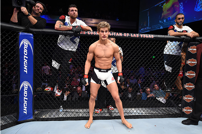 LAS VEGAS, NEVADA - DECEMBER 10:  Sage Northcutt before his lightweight bout against Cody Pfister during the UFC Fight Night event at The Chelsea at the Cosmopolitan of Las Vegas on December 10, 2015 in Las Vegas, Nevada.  (Photo by Jeff Bottari/Zuffa LLC