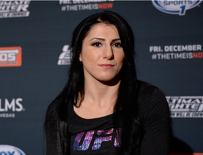 LAS VEGAS, NEVADA - DECEMBER 10:  Randa Markos speaks with the media during The Ultimate Fighter Finale Ultimate Media Day at the Palms Casino Resort on December 10, 2014 in Las Vegas, Nevada. (Photo by Brandon Magnus/Zuffa LLC/Zuffa LLC via Getty Images)