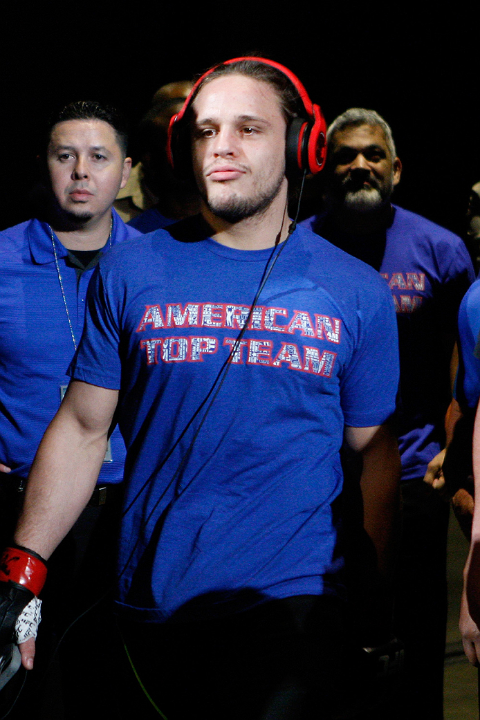 LAS VEGAS, NV - JULY 12:  Michael Graves enters the arena for his fight against Vicente Luque in their welterweight bout during the Ultimate Fighter Finale inside MGM Grand Garden Arena on July 12, 2015 in Las Vegas, Nevada.  (Photo by Mitch Viquez/Zuffa