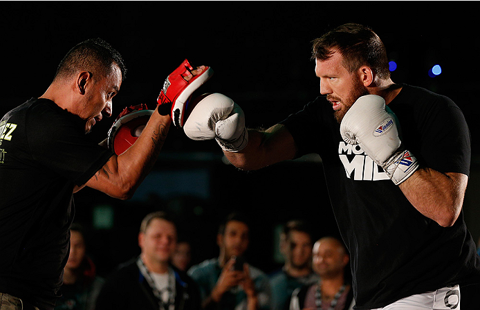 VANCOUVER, CANADA - JUNE 12:  Ryan Bader holds an open training session for media at the EA Sports Capture Lab on June 12, 2014 in Vancouver, British Columbia, Canada. (Photo by Josh Hedges/Zuffa LLC/Zuffa LLC via Getty Images)