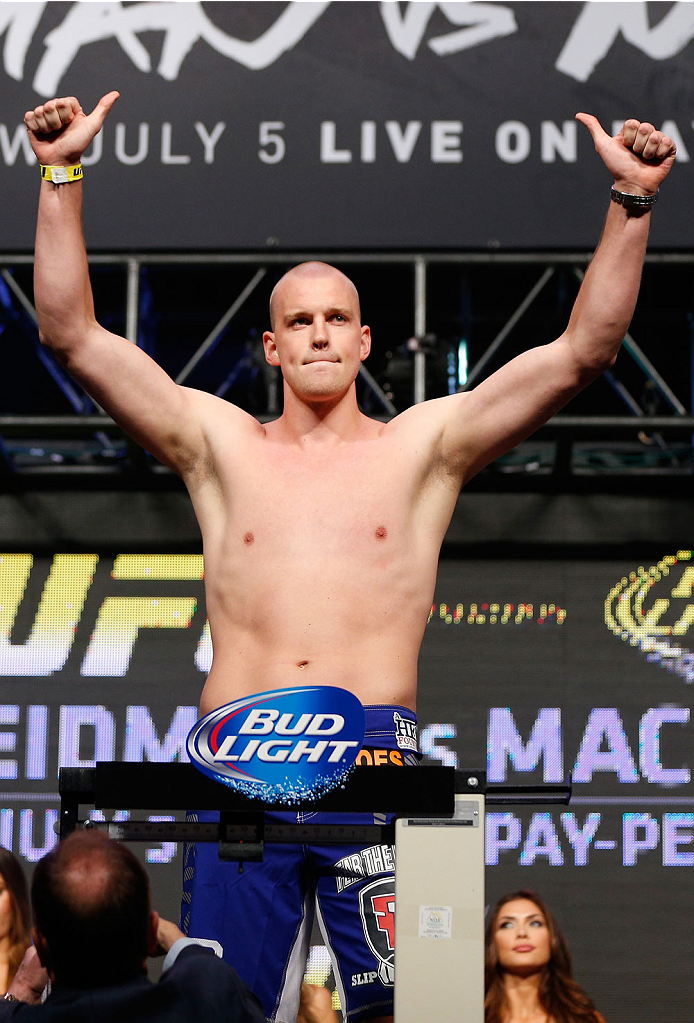 LAS VEGAS, NV - JULY 04:  Steven Struve weighs in during the UFC 175 weigh-in inside the Mandalay Bay Events Center on July 4, 2014 in Las Vegas, Nevada.  (Photo by Josh Hedges/Zuffa LLC/Zuffa LLC via Getty Images)