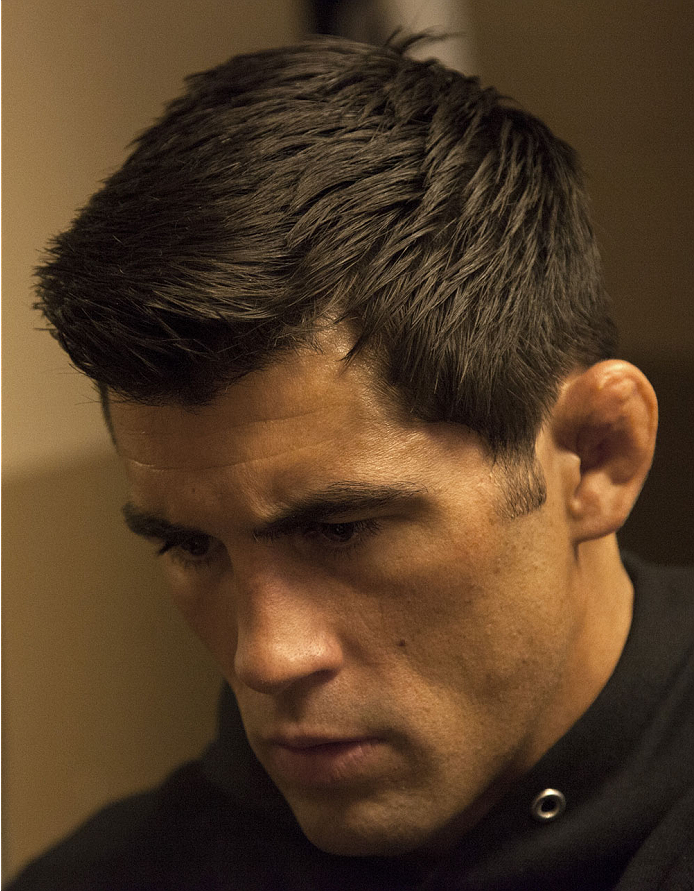 LAS VEGAS, NV - SEPTEMBER 27:  Dominick Cruz gets his hands wrapped before his fight against Takeya Mizugaki during the UFC 178 event inside the MGM Grand Garden Arena on September 27, 2014 in Las Vegas, Nevada. (Photo by Brandon Magnus/Zuffa LLC/Zuffa LL