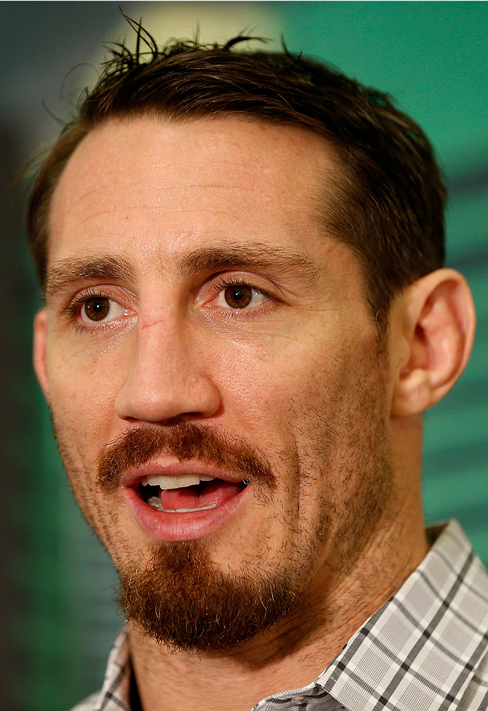 LAS VEGAS, NV - SEPTEMBER 25:  Tim Kennedy interacts with media during the UFC 178 Ultimate Media Day at the MGM Grand Hotel/Casino on September 25, 2014 in Las Vegas, Nevada. (Photo by Josh Hedges/Zuffa LLC/Zuffa LLC via Getty Images)
