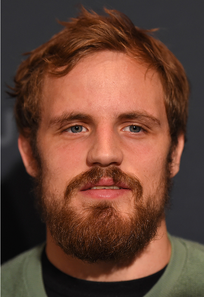 LAS VEGAS, NV - DECEMBER 09:  Gunnar Nelson of Iceland interacts with media during the UFC Ultimate Media Day at MGM Grand Hotel & Casino on December 9, 2015 in Las Vegas, Nevada.  (Photo by Josh Hedges/Zuffa LLC/Zuffa LLC via Getty Images)