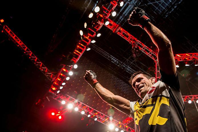 CURITIBA, BRAZIL - MAY 14: Demian Maia of Brazil celebrates after defeating Matt Brown of the United States in their welterweight bout during the UFC 198 at Arena da Baixada stadium on May 14, 2016 in Curitiba, Brazil. (Photo by Buda Mendes/Zuffa LLC/Zuff