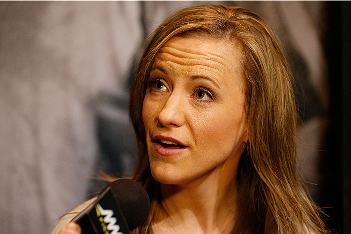 LAS VEGAS, NV - JULY 03:  The Ultimate Fighter season 20 cast member Lisa Ellis interacts with media during the UFC Ultimate Media Day at the Mandalay Bay Resort and Casino on July 3, 2014 in Las Vegas, Nevada.  (Photo by Josh Hedges/Zuffa LLC/Zuffa LLC v
