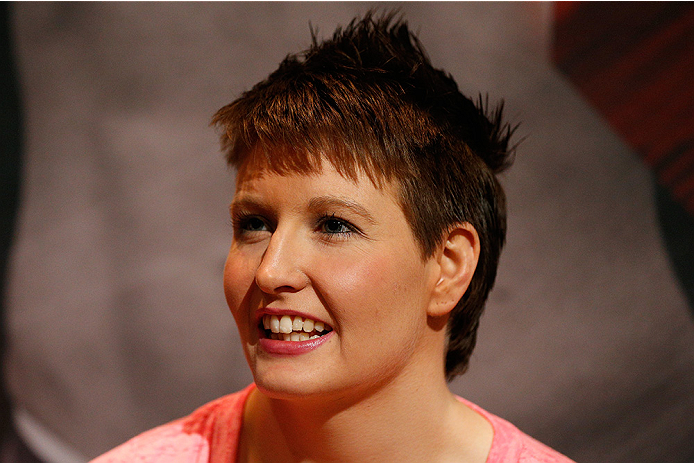 LAS VEGAS, NV - JULY 03:  The Ultimate Fighter season 20 cast member Aisling Daly interacts with media during the UFC Ultimate Media Day at the Mandalay Bay Resort and Casino on July 3, 2014 in Las Vegas, Nevada.  (Photo by Josh Hedges/Zuffa LLC/Zuffa LLC
