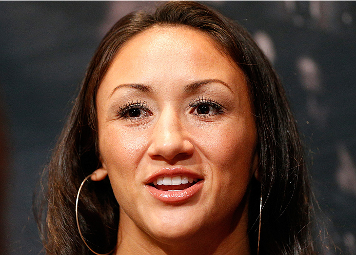 LAS VEGAS, NV - JULY 03:  The Ultimate Fighter season 20 cast member Carla Esparza interacts with media during the UFC Ultimate Media Day at the Mandalay Bay Resort and Casino on July 3, 2014 in Las Vegas, Nevada.  (Photo by Josh Hedges/Zuffa LLC/Zuffa LL