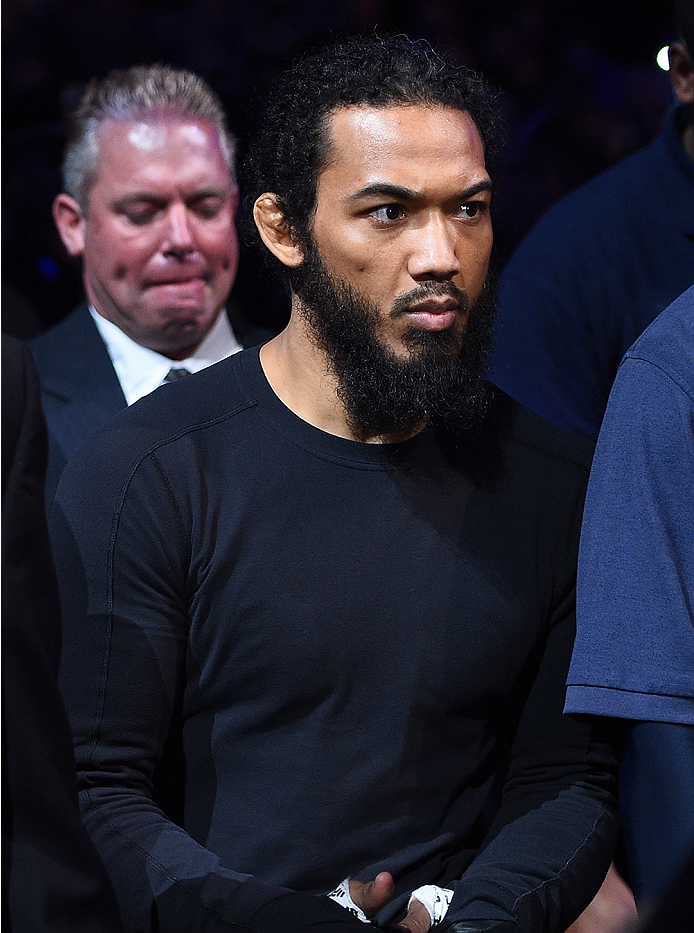BOSTON, MA - JANUARY 18:  Benson 'Smooth' Henderson enters the arena before a lightweight fight against Donald 'Cowboy' Cerrone during the UFC Fight Night event at the TD Garden on January 18, 2015 in Boston, Massachusetts. (Photo by Jeff Bottari/Zuffa LL