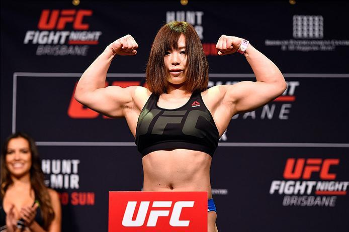 BRISBANE, AUSTRALIA - MARCH 19:  Rin Nakai of Japan weighs in during the UFC Fight Night weigh-in at the Brisbane Entertainment Centre on March 19, 2016 in Brisbane, Australia. (Photo by Josh Hedges/Zuffa LLC/Zuffa LLC via Getty Images)