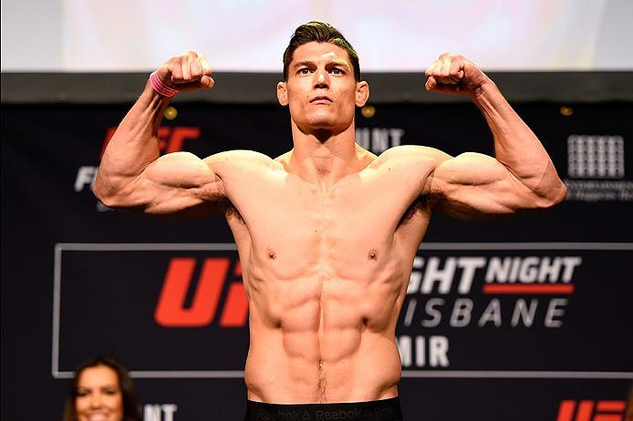 BRISBANE, AUSTRALIA - MARCH 19:  Alan Jouban weighs in during the UFC Fight Night weigh-in at the Brisbane Entertainment Centre on March 19, 2016 in Brisbane, Australia. (Photo by Josh Hedges/Zuffa LLC/Zuffa LLC via Getty Images)
