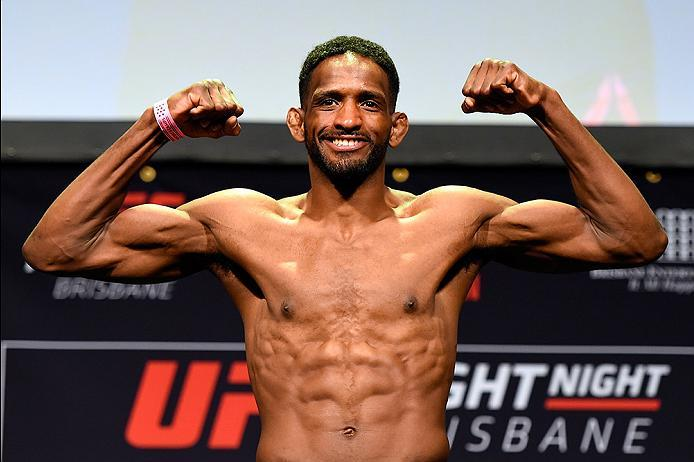 BRISBANE, AUSTRALIA - MARCH 19:   Neil Magny weighs in during the UFC Fight Night weigh-in at the Brisbane Entertainment Centre on March 19, 2016 in Brisbane, Australia. (Photo by Josh Hedges/Zuffa LLC/Zuffa LLC via Getty Images)