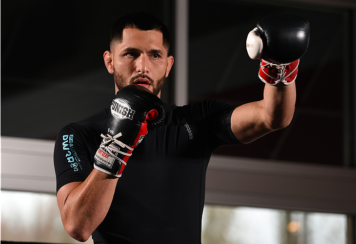 FAIRFAX, VA - APRIL 02:   Jorge Masvidal holds an open training session for fans and media at the UFC Gym on April 2, 2015 in Fairfax, Virginia. (Photo by Josh Hedges/Zuffa LLC/Zuffa LLC via Getty Images)
