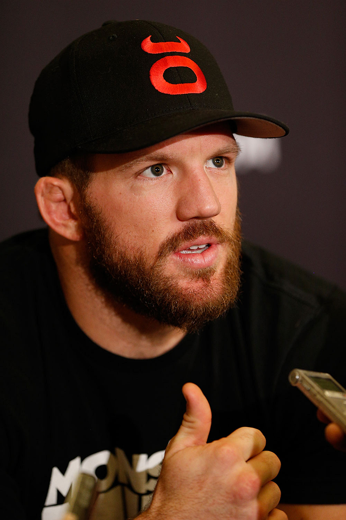 BRISBANE, AUSTRALIA - DECEMBER 05:  Ryan Bader interacts with media during the UFC Ultimate Media Day at the Brisbane Marriott Hotel on December 5, 2013 in Brisbane, Australia. (Photo by Josh Hedges/Zuffa LLC/Zuffa LLC via Getty Images)