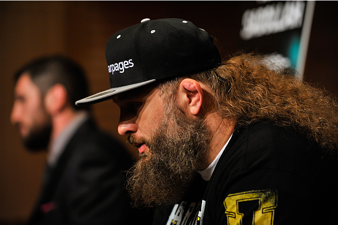 TOKYO, JAPAN - SEPTEMBER 17:  Roy Nelson interacts with media during the UFC Ultimate Media Day at the Hilton Tokyo on September 17, 2014 in Tokyo, Japan.  (Photo by Keith Tsuji/Zuffa LLC/Zuffa LLC via Getty Images)