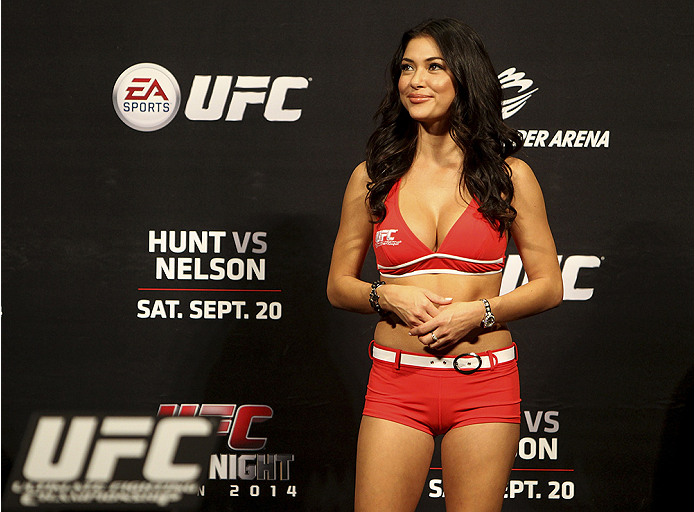 SAITAMA, JAPAN - SEPTEMBER 19:  Arianny Celeste during the UFC Fight Night weigh-in event on September 19, 2014 in Saitama, Japan. (Photo by Mitch Viquez/Zuffa LLC/Zuffa LLC via Getty Images)