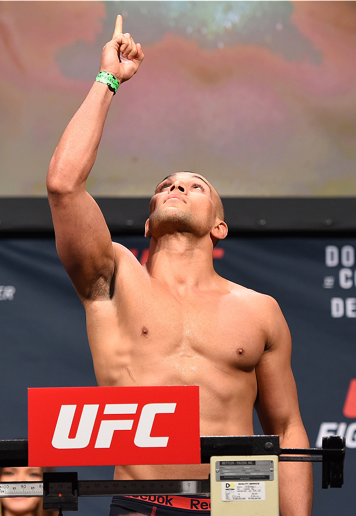 ORLANDO, FL - DECEMBER 18:   Hayder Hassan weighs in during the UFC weigh-in at the Orange County Convention Center on December 18, 2015 in Orlando, Florida. (Photo by Josh Hedges/Zuffa LLC/Zuffa LLC via Getty Images)