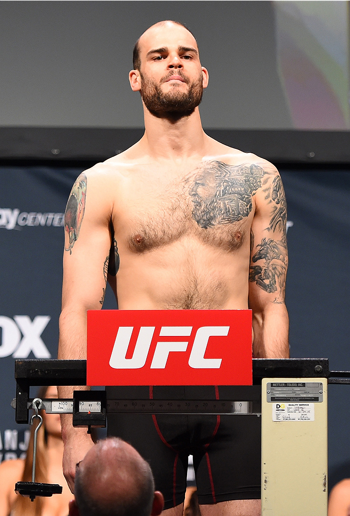 ORLANDO, FL - DECEMBER 18:   Tamdan McCrory weighs in during the UFC weigh-in at the Orange County Convention Center on December 18, 2015 in Orlando, Florida. (Photo by Josh Hedges/Zuffa LLC/Zuffa LLC via Getty Images)