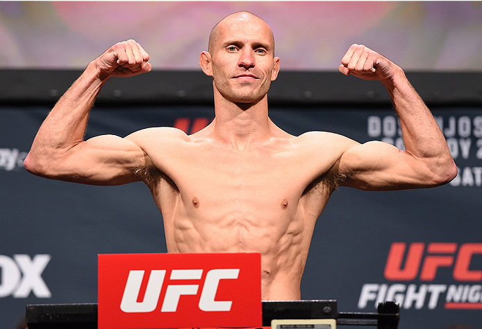 ORLANDO, FL - DECEMBER 18:   Donald 'Cowboy' Cerrone weighs in during the UFC weigh-in at the Orange County Convention Center on December 18, 2015 in Orlando, Florida. (Photo by Josh Hedges/Zuffa LLC/Zuffa LLC via Getty Images)