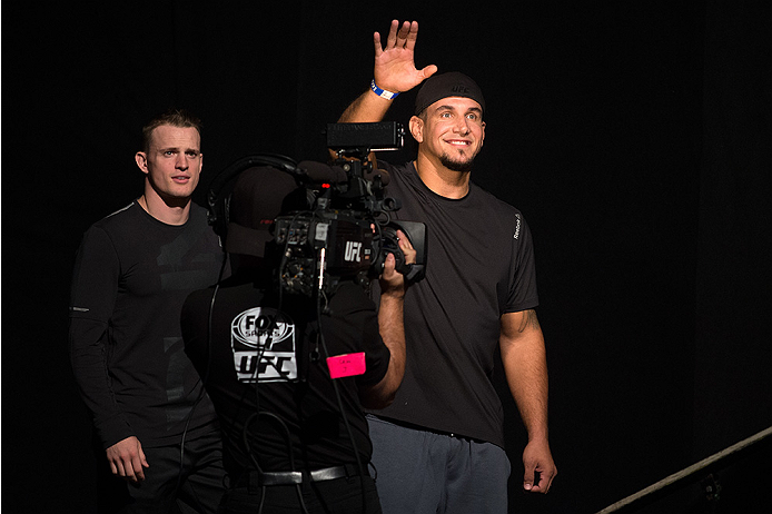 SAN DIEGO, CA - JULY 14:  Frank Mir walks to the scale during the UFC weigh-in at the Valley View Casino Center on July 14, 2015 in San Diego, California. (Photo by Jeff Bottari/Zuffa LLC/Zuffa LLC via Getty Images)