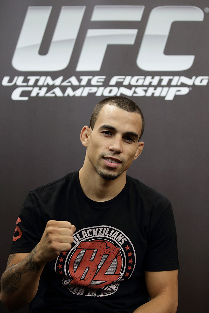 SINGAPORE - JANUARY 02:  Sean Soriano poses for a photo during the UFC Fight Night Singapore Ultimate Media Day at the Skating Rink at The Shoppes at Marina Bay Sand on January 2, 2014 in Singapore.  (Photo by Suhaimi Abdullah/Zuffa LLC)