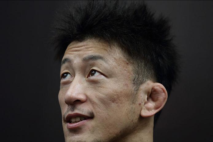 SINGAPORE - JANUARY 02:  Tatsuya Kawajiri attends the UFC Fight Night Singapore Ultimate Media Day at the Skating Rink at The Shoppes at Marina Bay Sand on January 2, 2014 in Singapore.  (Photo by Suhaimi Abdullah/Zuffa LLC)