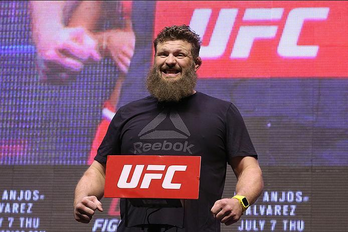 LAS VEGAS, NV - JULY 06: Roy Nelson steps on the scale during the UFC Fight Night Weigh-in event at the T-Mobile Arena on July 6, 2016 in Las Vegas, Nevada. (Photo by Ed Mulholland/Zuffa LLC/Zuffa LLC via Getty Images)
