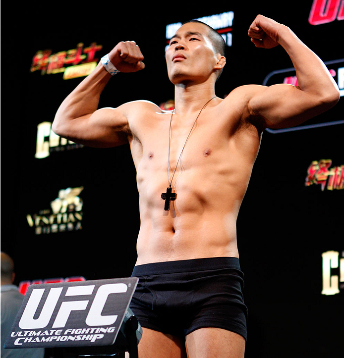 MACAU - FEBRUARY 28:  Yui Chul Nam during the UFC weigh-in event at the Venetian Macau on February 28, 2014 in Macau. (Photo by Mitch Viquez/Zuffa LLC/Zuffa LLC via Getty Images)