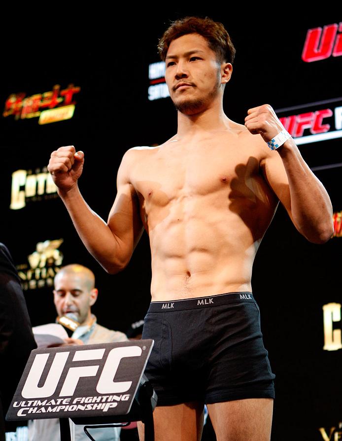 MACAU - FEBRUARY 28:  Kazuki Tokudome during the UFC weigh-in event at the Venetian Macau on February 28, 2014 in Macau. (Photo by Mitch Viquez/Zuffa LLC/Zuffa LLC via Getty Images)