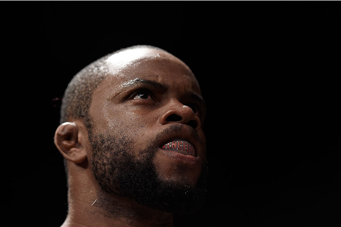 GOIANIA, BRAZIL - MAY 30:  Wendell Oliveira looks on prior to his welterweight UFC bout against Darren Till of England during the UFC Fight Night event at Arena Goiania on May 30, 2015 in Goiania.  (Photo by Buda Mendes/Zuffa LLC/Zuffa LLC via Getty Image