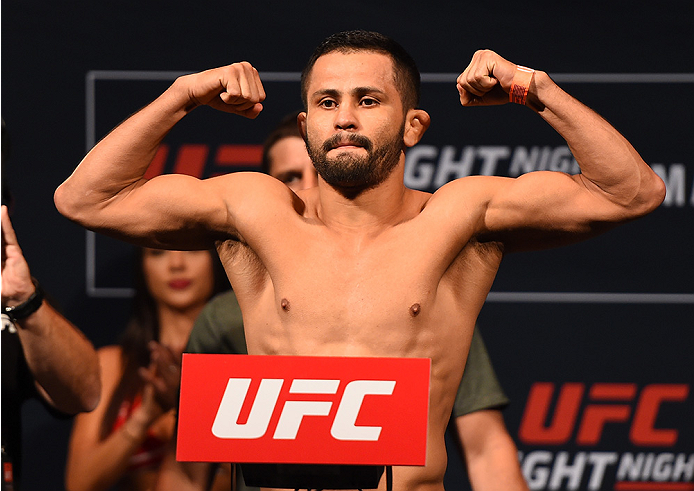 MONTERREY, MEXICO - NOVEMBER 20:  Jussier Formiga of Brazil weighs in during the UFC weigh-in at the Arena Monterrey on November 20, 2015 in Monterrey, Mexico. (Photo by Jeff Bottari/Zuffa LLC/Zuffa LLC via Getty Images)