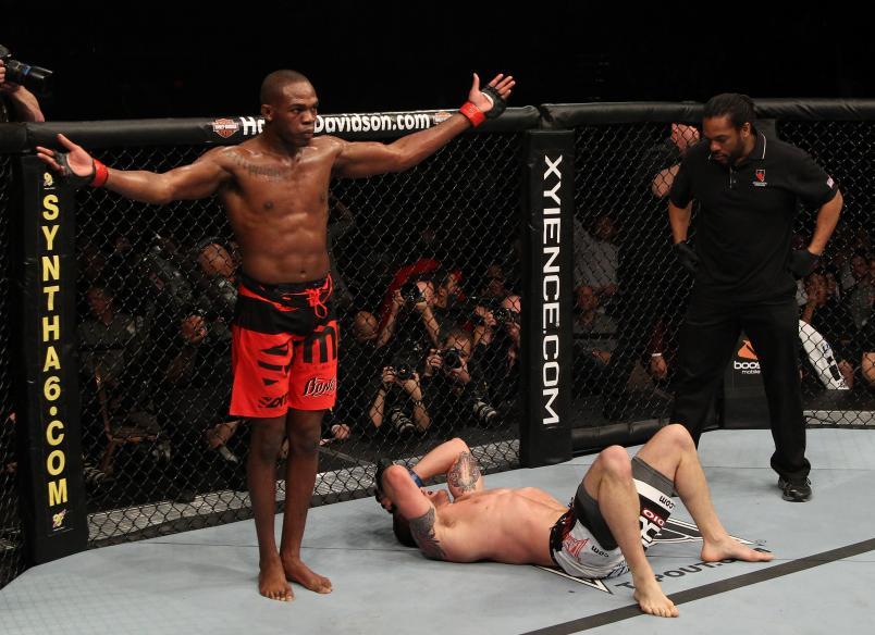 Jones vs Bader (Photo by Jed Jacobsohn/Zuffa LLC)