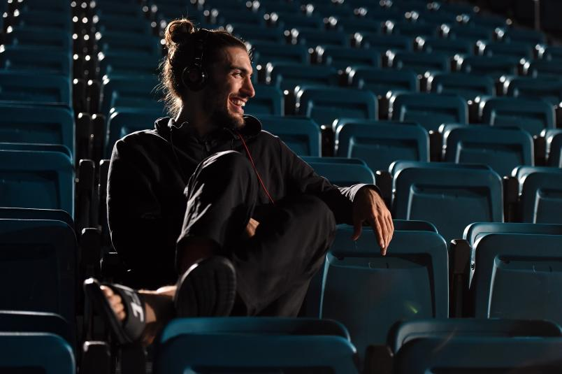 LAS VEGAS, NEVADA - DECEMBER 09: Elias Theodorou of Canada waits backstage during the UFC Fight Night weigh-in event at MGM Grand Garden Arena on December 9, 2015 in Las Vegas, Nevada. (Photo by Mike Roach/Zuffa LLC/Zuffa LLC via Getty Images)
