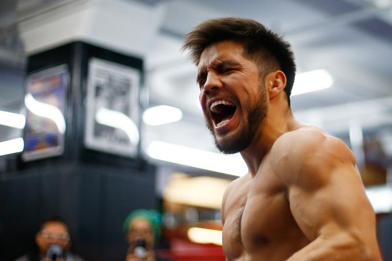 Henry Cejudo works out during the open workout at Gleason's Gym on January 16, 2019 in New York City. (Photo by Mike Stobe/Zuffa LLC)