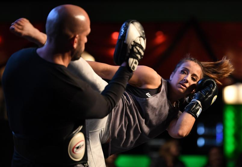 DENVER, CO - NOVEMBER 07: Maycee Barber holds an open workout for fans and media on November 7, 2018 in Denver, Colorado. (Photo by Josh Hedges/Zuffa LLC/Zuffa LLC via Getty Images)