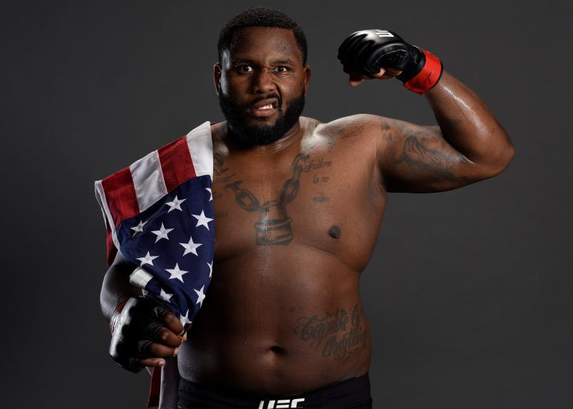 ATLANTIC CITY, NJ - APRIL 21: Justin Willis poses for a portrait backstage after his victory over Chase Sherman during the UFC Fight Night event at the Boardwalk Hall on April 21, 2018 in Atlantic City, New Jersey. (Photo by Mike Roach/Zuffa LLC/Zuffa LLC via Getty Images)