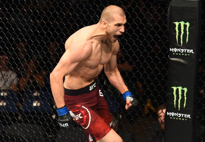 LIVERPOOL, ENGLAND - MAY 27: Tom Breese of England celebrates his victory over Daniel Kelly of Australia in their middleweight bout during the UFC Fight Night event at ECHO Arena on May 27, 2018 in Liverpool, England. (Photo by Josh Hedges/Zuffa LLC/Zuffa LLC via Getty Images)