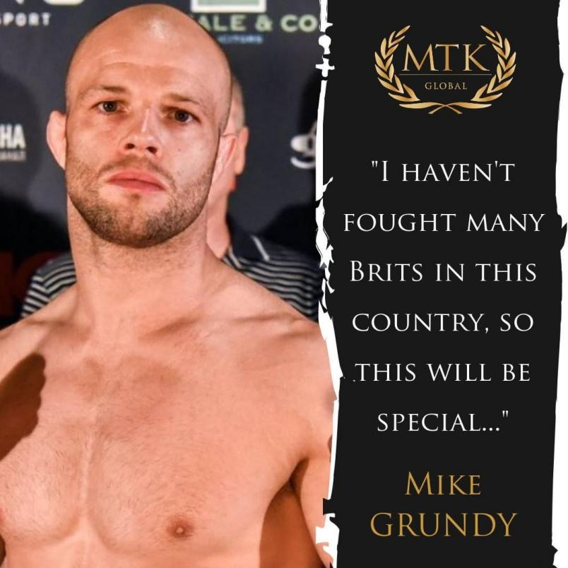 """Mike Grundy """"I haven't fought many Brits in this country, so this will be special"""""""