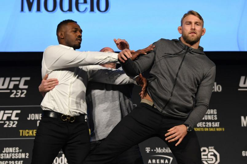 Things get messy between Jon Jones and Alexander Gustafsson at the UFC 232 press conference